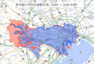 東京の市街化調整区域