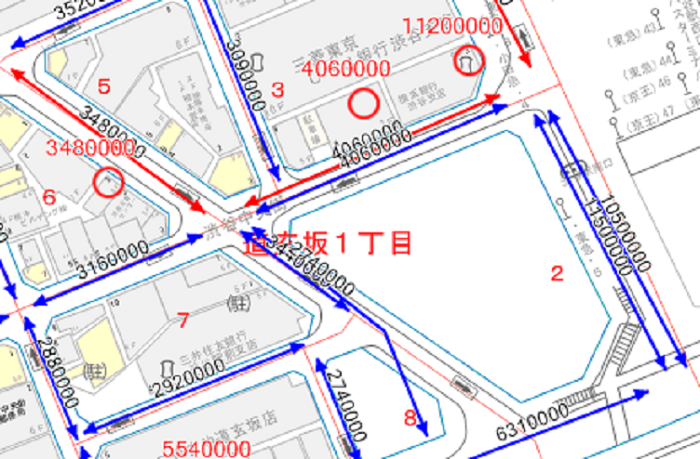 東京都渋谷区渋谷駅周辺の路線価図