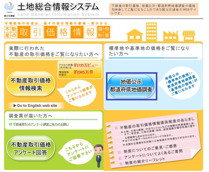 土地総合情報システム地価公示・都道府県知事調査