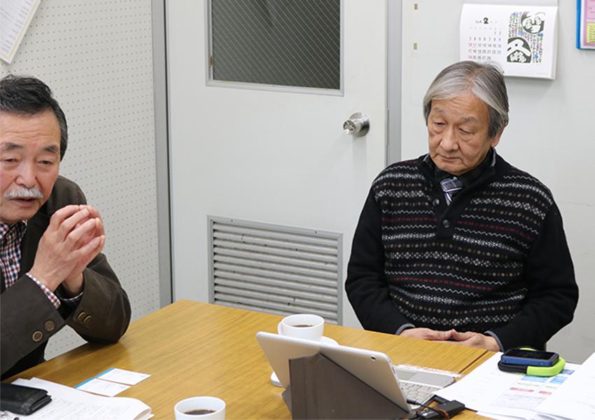 NPO法人マンション再生・建替・支援センターの阿波理事長と三浦さん