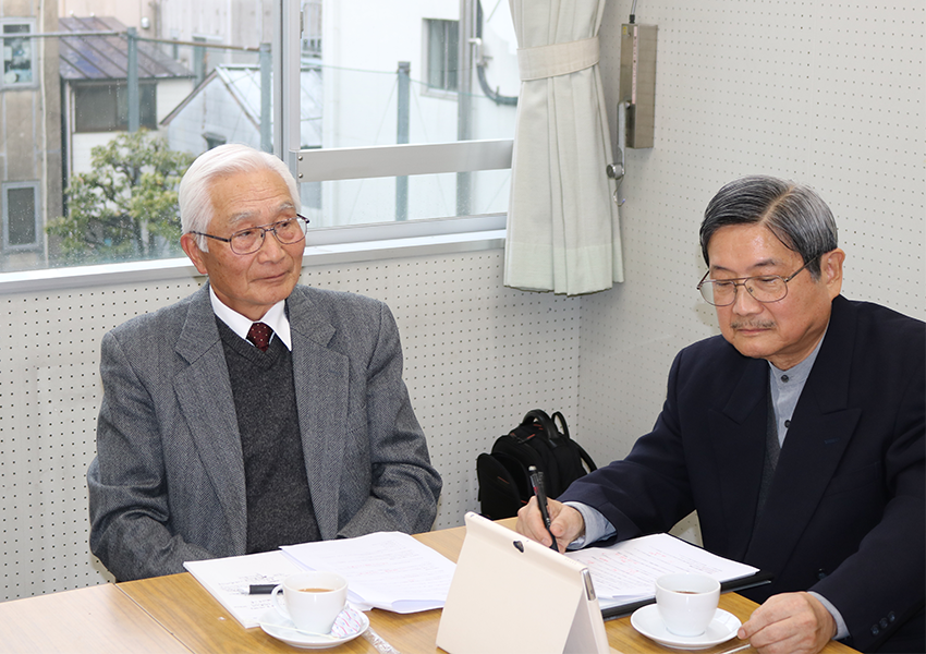 NPO法人マンション再生・建替・支援センターの石田さんと大間さん