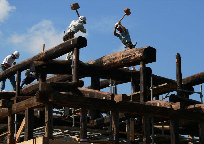 日本民家再生協会 移築再生工事の様子