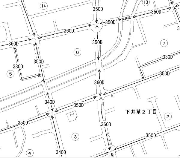 路線価図の例